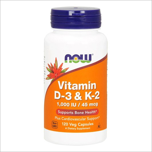 45 Mcg D-3 And K-2 1000 IU Vitamin Capsule