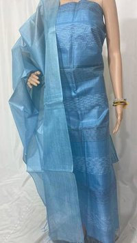 PURE TUSSAR SILK WEAVED TOP 2.5 MTRS DUPATTA 2.5 MTRS.