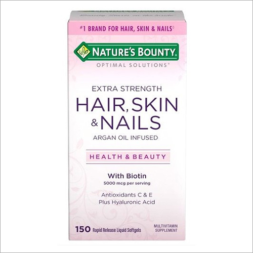 Optimal Solutions Hair Skin And Nails Extra Strength Softgels