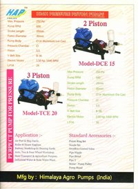 DCE-15 DOUBLE PISTON CAR WASHING PUMP