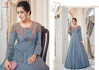 Tafeta Silk Long Gown
