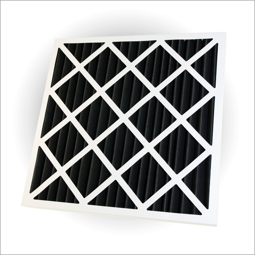 Card Board Frame Activated Carbon Panel Filter - Pleated