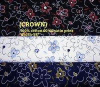 Crown 100% cotton 60*60 satin leaf print