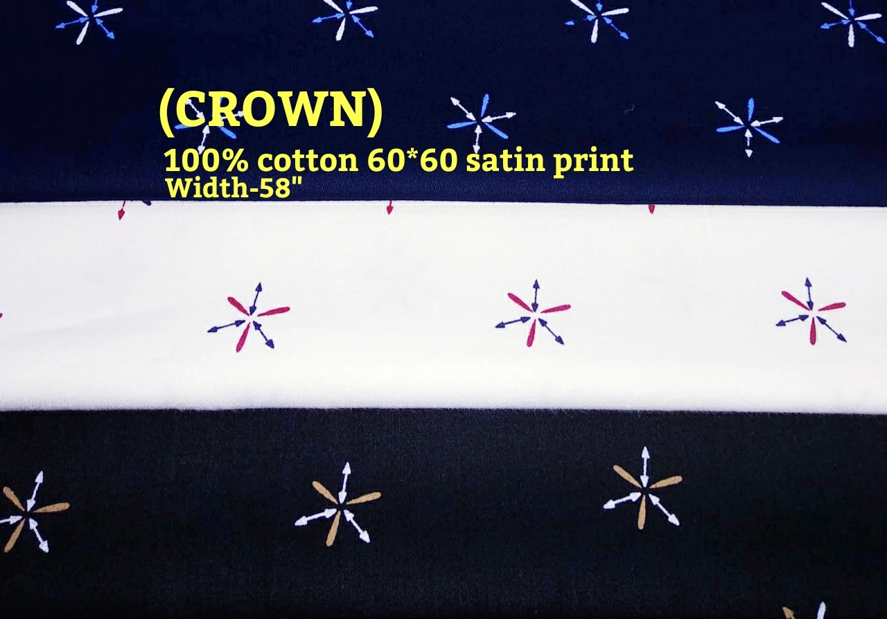 Crown 100% cotton 60*60 satin leaf print