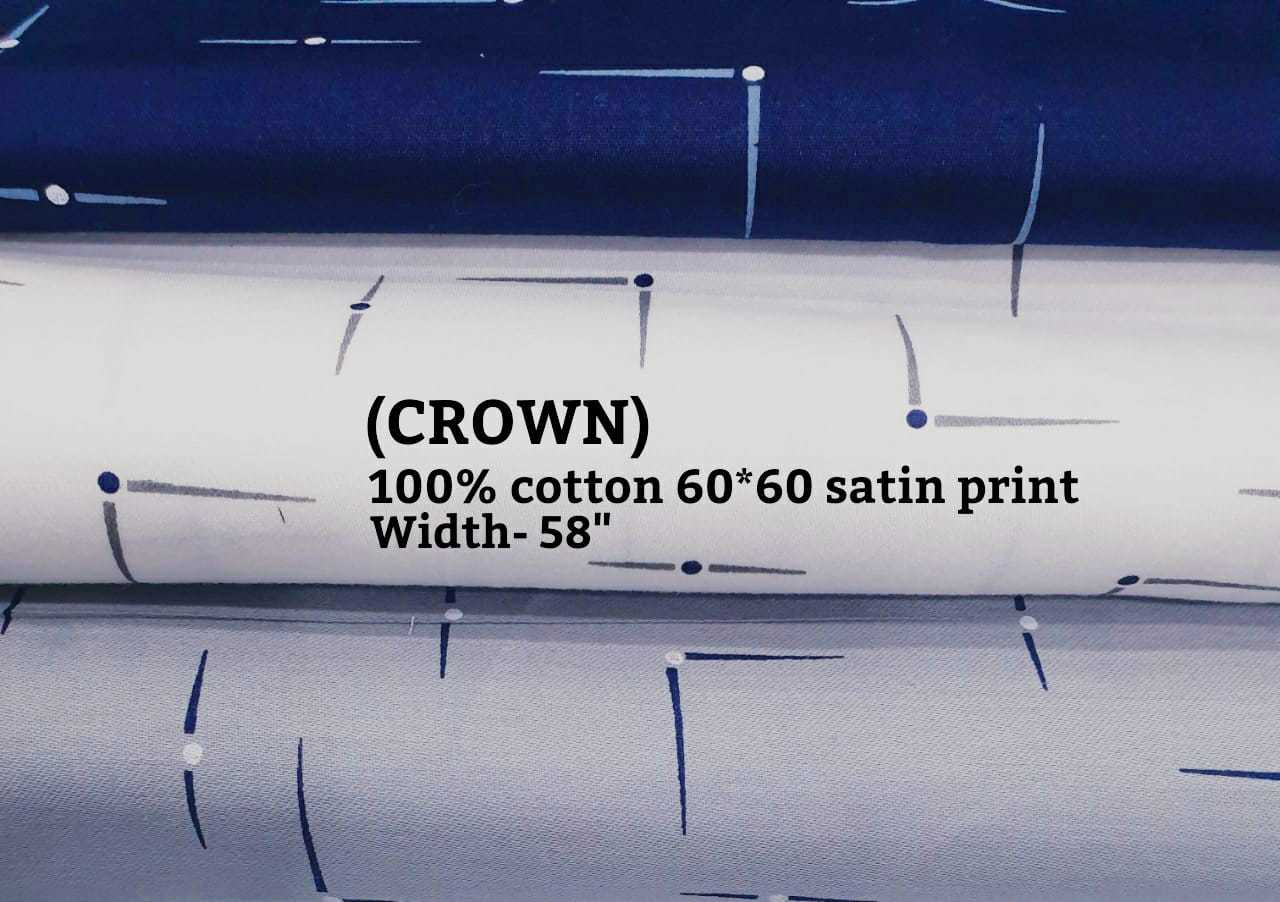 Crown 100% cotton 60*60 satin print
