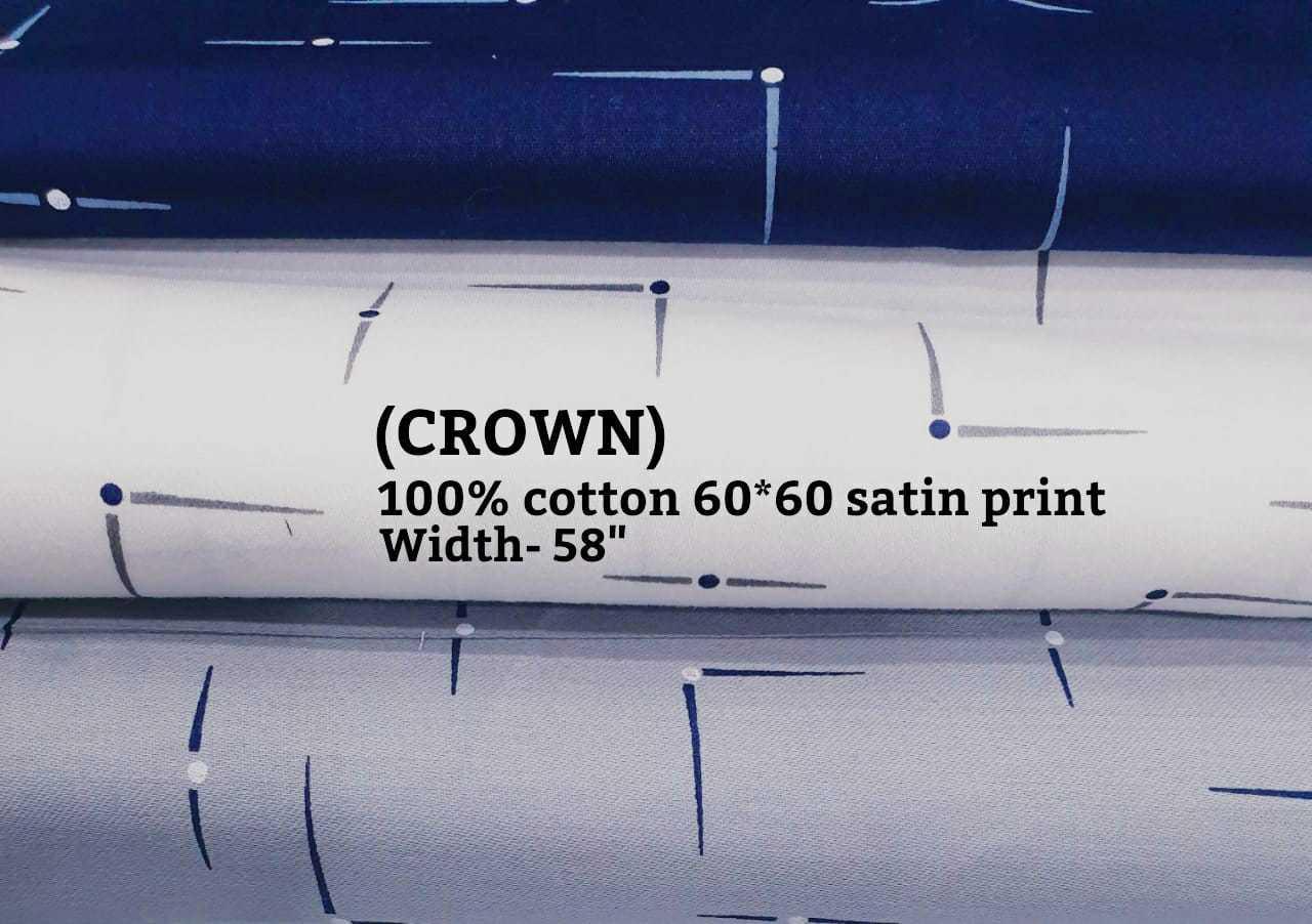Crown 100% cotton 60*60 satin print