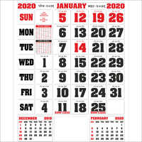 12 Pages Calender 2020