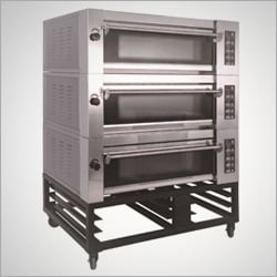 Stainless Steel 3 Deck Oven