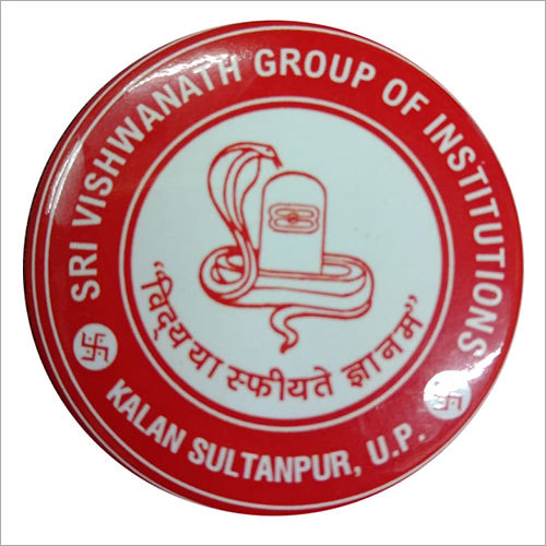 Institution Printed Round Badge