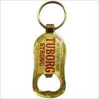 Gold Plated Bottle Opener Keychain