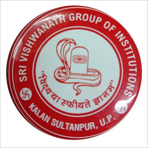 Institution Printed Round Badge