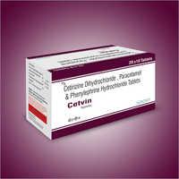 Cetirizine Dihydrochloride Paracetamol And Phenylephrine Hydrochloride Tablets