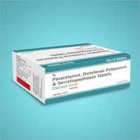Paracetamol Diclofenac Potassium And Serratiopeptidase Tablets