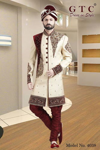 4038 EXCLUSIVE WEDDING SHERWANI