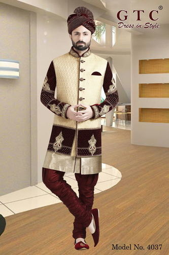 4037 EXCLUSIVE WEDDING SHERWANI