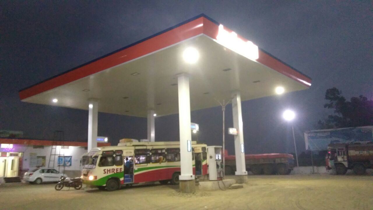 Indian Oil Petrol Pump Canopy