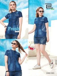 Denim Western Top
