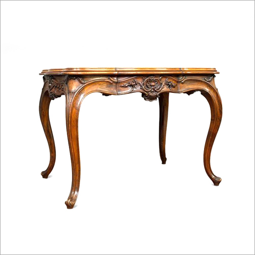Wooden Antique Curved Table