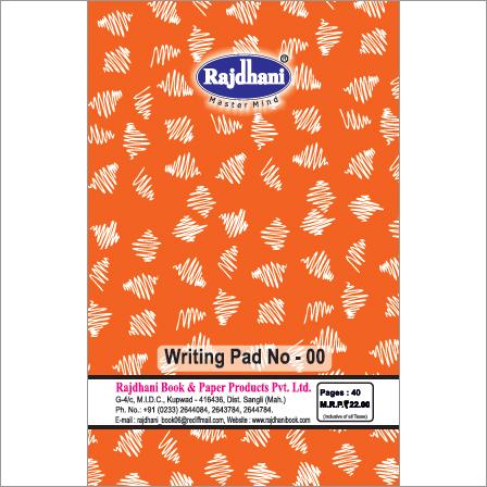 Rajdhani Writing Pad