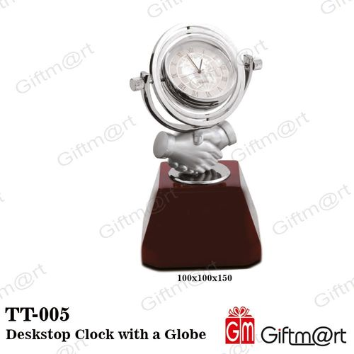 Deskstop Clock with a Globe