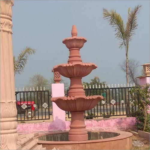 Agra Red Sandstone Fountains