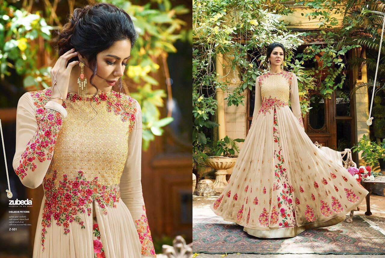 Gown Georgette With Embroidery work