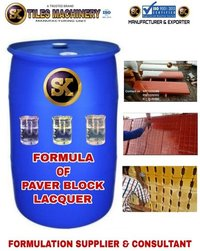 Formula of Paver Block Lacquer