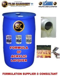 Formula of Acrylic Lacquer