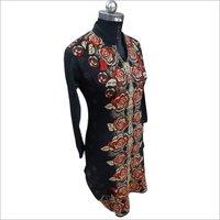 Ladies Floral Print Woolen Long Kurti