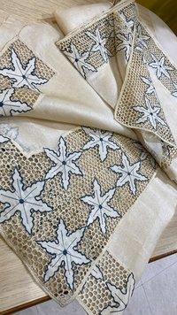 Pure Tussar Silk Cut Work (3.5
