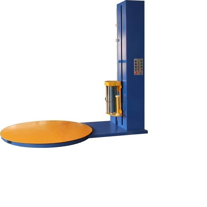 Automatic Pallet Stretch Wrapper And Top Pressed