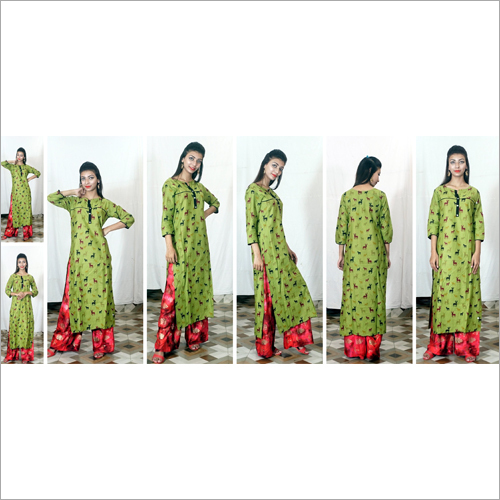 Ladies Printed Cotton Long Kurti