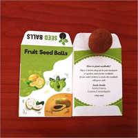 Eco Friendly Fruits Seed Ball Pockets