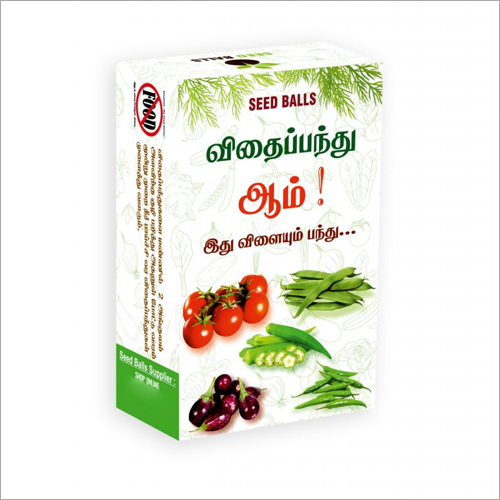 Eco Friendly Vegetable Seed Balls Pack