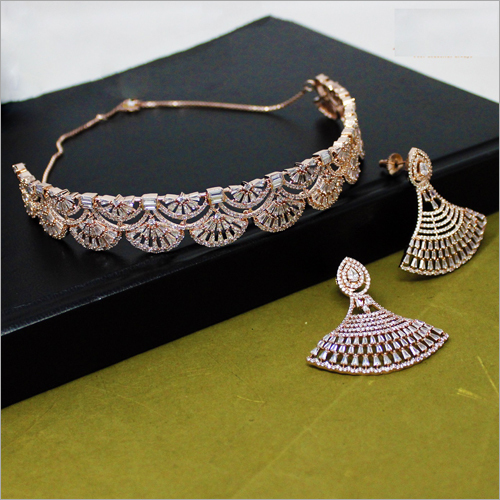 Ladies American Diamond Necklace Set