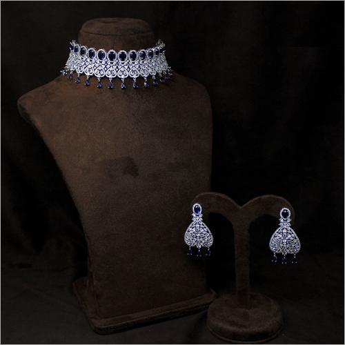 American Diamond Choker Necklace Set