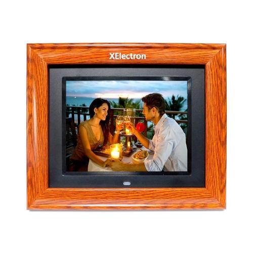 XElectron 8 inch IPS Display Wooden Digital Photo Frame