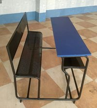 Wooden Top School Desk Bench