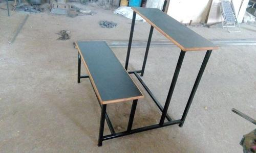 Mild Steel Pipe Frame School Bench