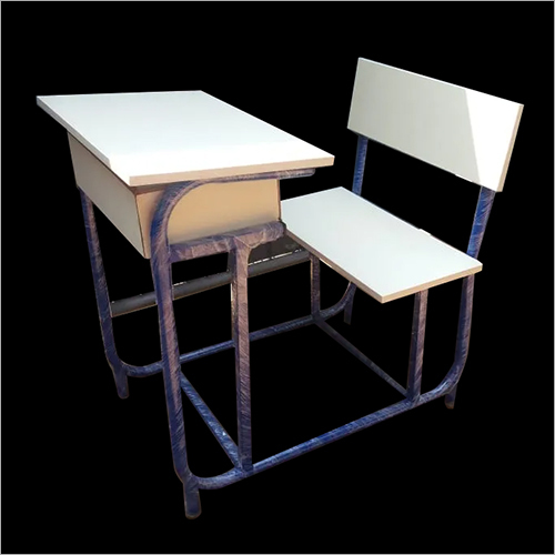 Mild Steel Pipe Frame School Bench
