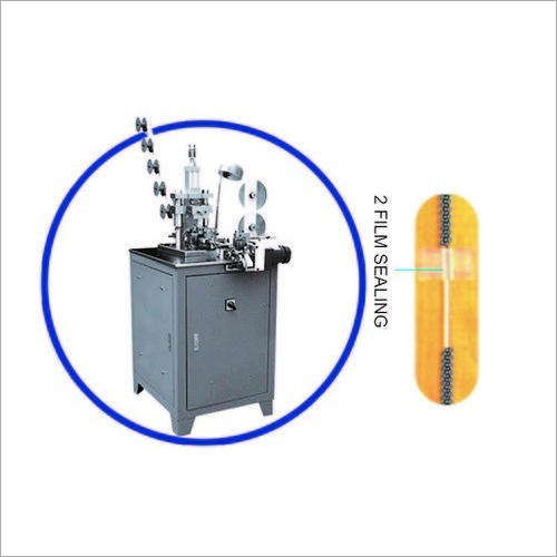 Auto Metal Zipper Tape Film Sealing Machine