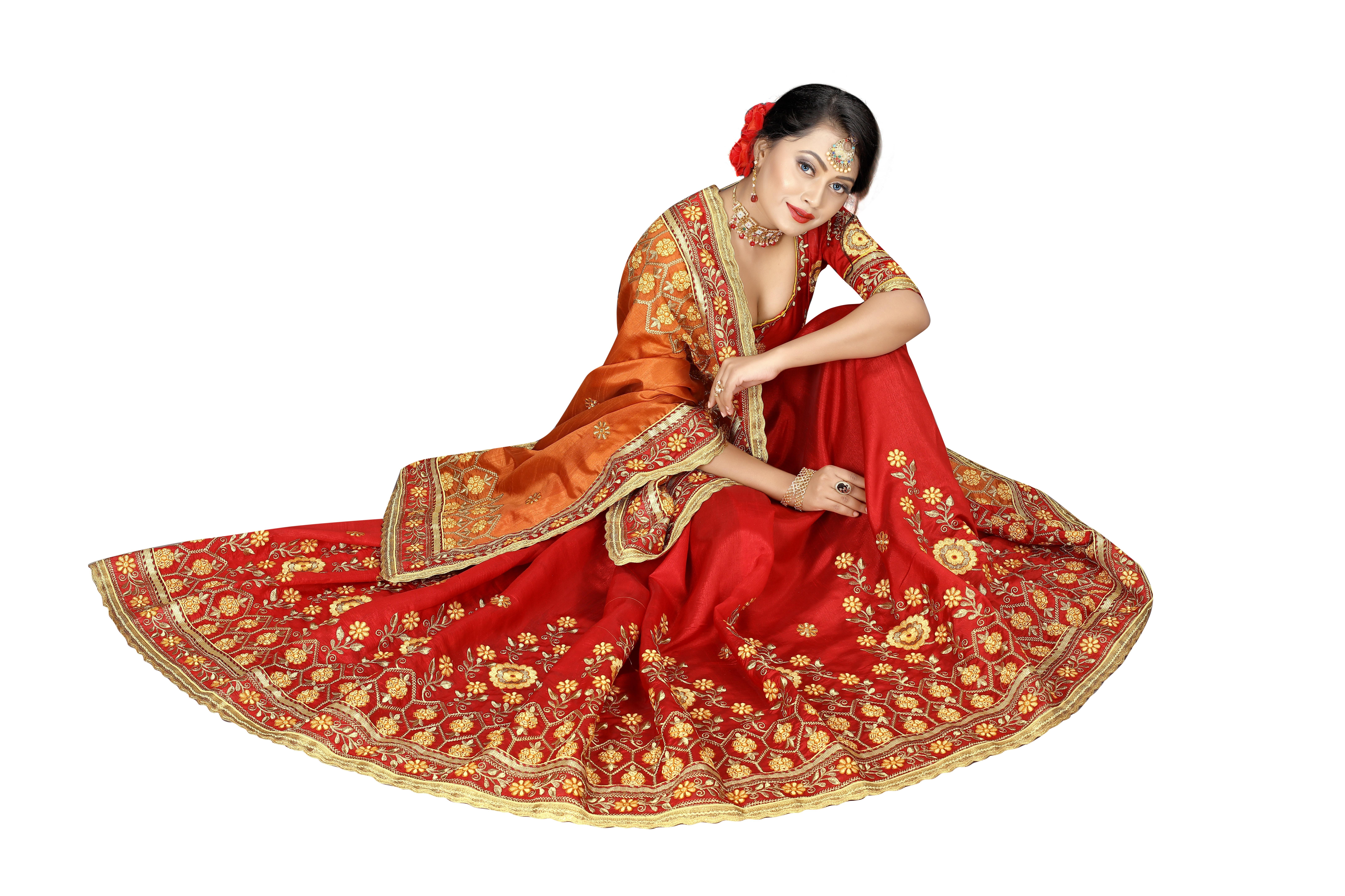 Silk Heavy Embroidery Saree