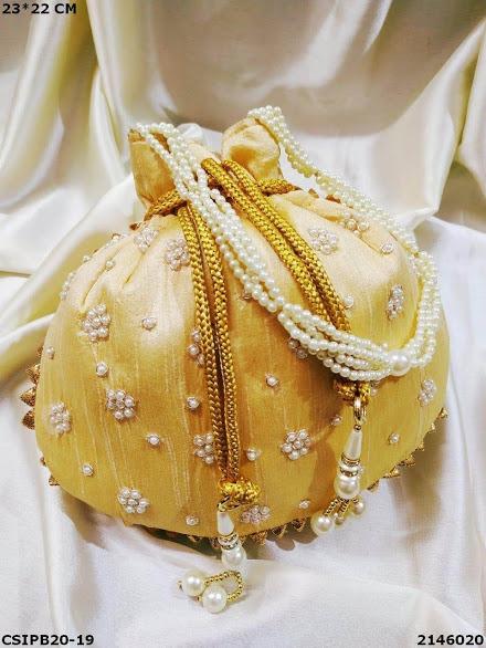 Traditional handmade batua potli bags