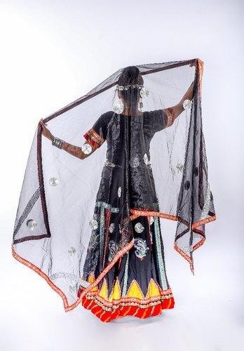 Black rajasthani kalbelia coustume