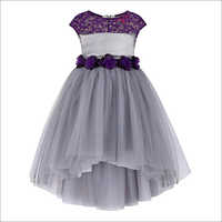 Kids  Grey High Low Dress