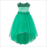 Sequins Embellished Green Hi-low Party Dress