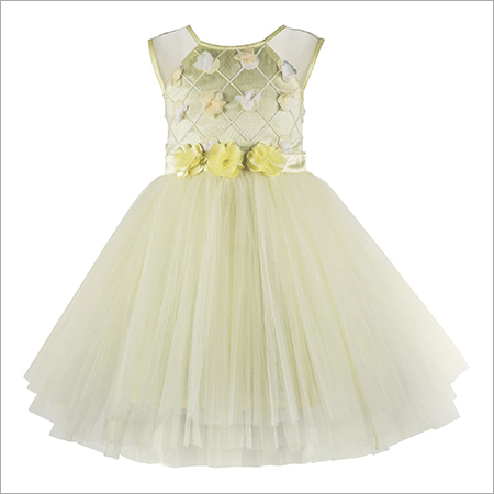 Applique Yellow Frock