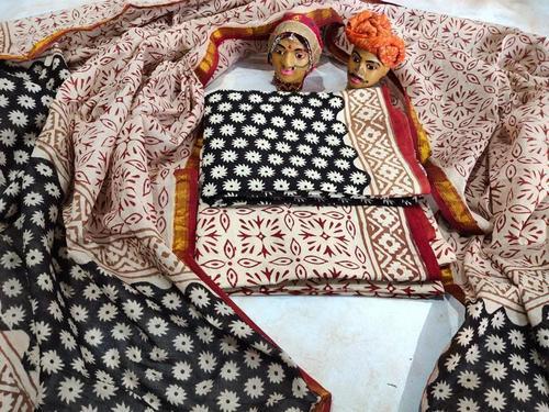 Hand Block Bagru Print Cotton Suits