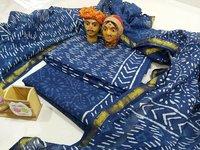Indigo Print Cotton Suit