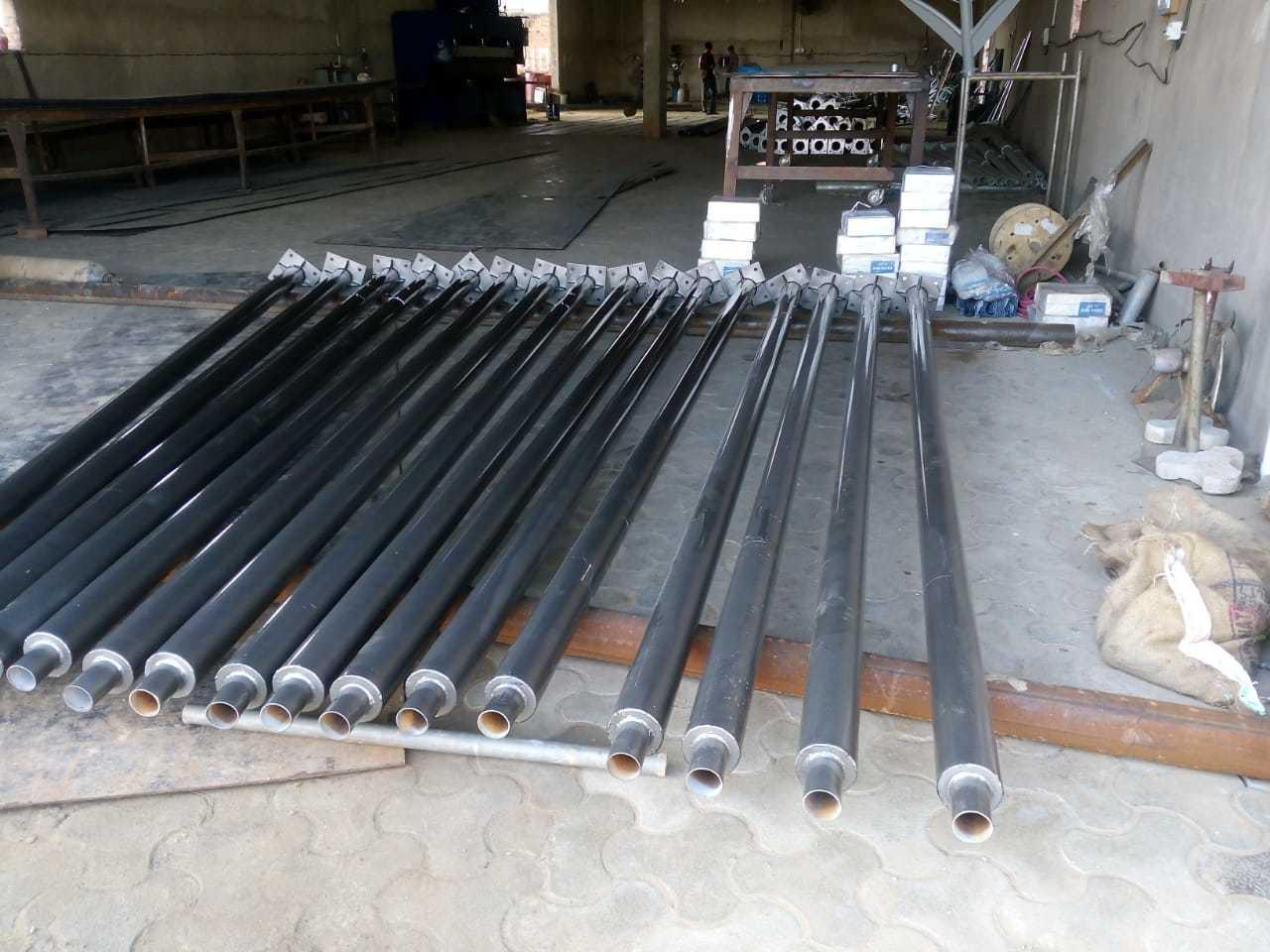 Pu Painted decorative tubular poles